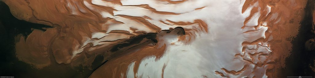 Mars Northern Ice Cap, Credit ESA