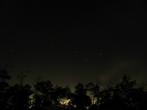 Astrophotography on a Budget - Orion Image captured with Canon SX120 (10 exposures, 4 seconds each, ISO400)
