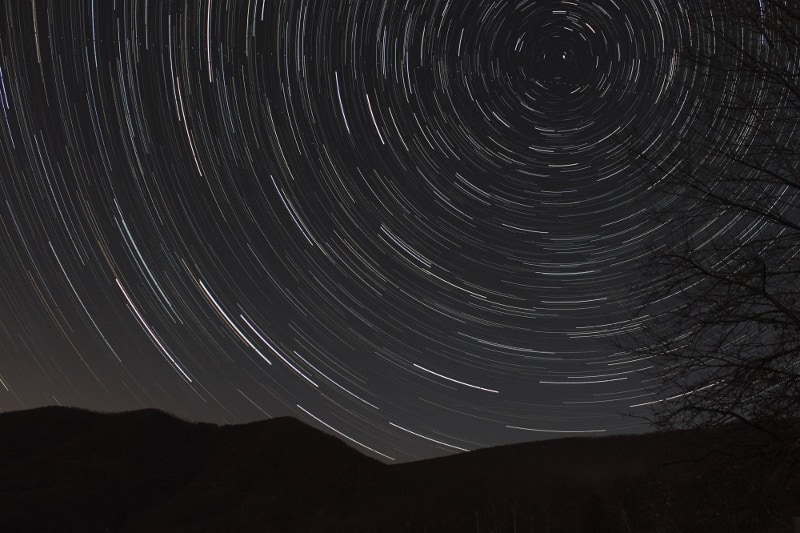 Star trails, image credit: Ralph Clements
