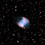 Dumbbell Nebula (M27), photo credit: Wolf Damm