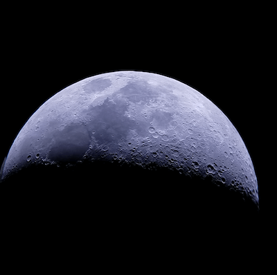 moon seen with Zhumell Z130