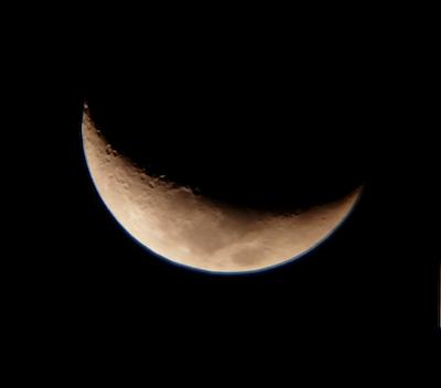 Moon as seen with a K10mm eyepiece through my Galaxy S7 camera.